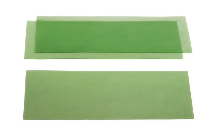 Glattes Gusswachs grün