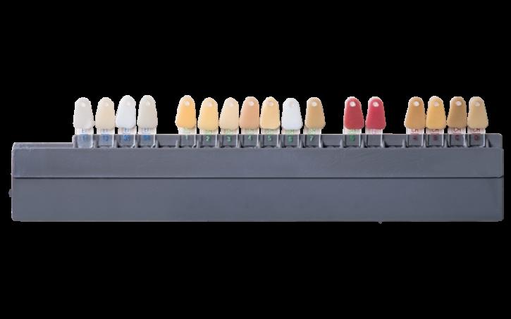 Zahnfarbringe -Schulter - Fluor - Intensiv - Chroma
